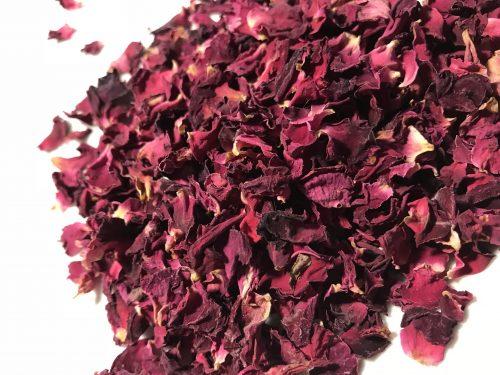 redorganic rose petals, single ingredient, dent, organic, rose