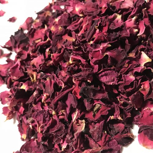 redorganic rose petals, single ingredient, dent, organic, rose